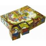 Topa drevené obrázkové kocky kubusy Snehulienka 20 kociek