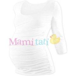 ca003e30b613 Johanka tehotenské tričko 3 4 rukáv biela od 14
