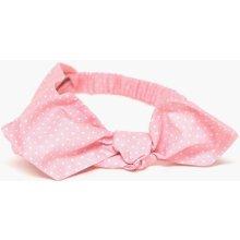 a0e78cfce Čelenka ružová bodkovaná s mašľou pink dámska