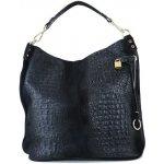 XL Talianska shopperka kožená kabelka veľká na plece čierna Valika e6baf172ff7
