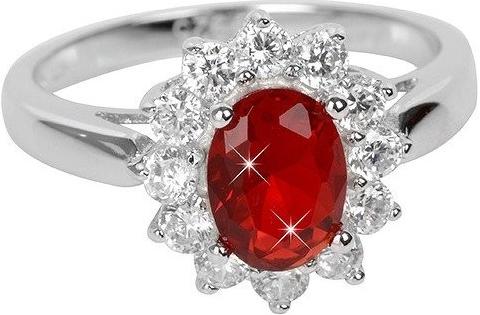 Prsteň Brilio Silver Strieborný prsteň s červeným kryštálom 5121615R ... ce6bb7edbc6