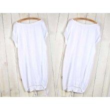 6ed2e6e65c49 Fashionweek Nádherné módne letné ľanové-bavlnené šaty BOHO ITALY OVERSIZE  MD9   785 Biela