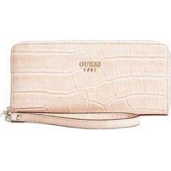 Crocodile Guess peňaženka Cate Embossed Zip Around piesková ... 39d5a0d540e