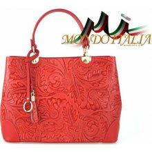 ed2167221b Made In Italy kožená kabelka 9661 červená