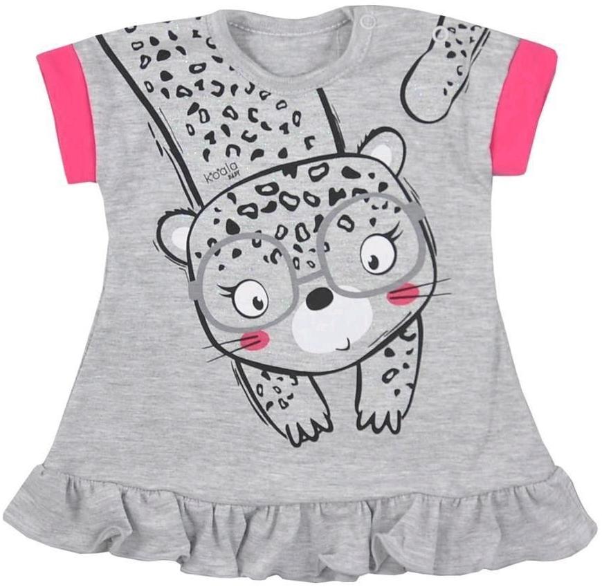 8b1c3b4aff93 Dojčenské šatôčky a sukňa Koala Dojčenské letné šaty Sara sivé ...