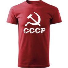 O&T krátke tričko cccp červená 160g/m2