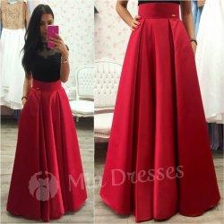 e430c0a1ae95 Dámska dlhá sukňa červená od 76