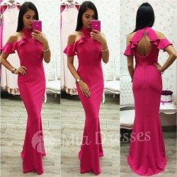 3fd9abf87250 Spoločenské šaty s volánom cyklaménová od 41
