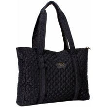 Firetrap Quilted Tote Bag Black/Gold
