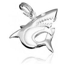 Strieborný prívesok - dravý žralok X14.19