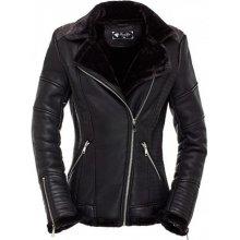 Dámská kožená zimná bunda oteplená BJP080