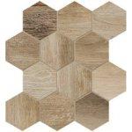 Dom Dlažba Barn Wood beige hexagon 35x37,5 cm, mat, rektifikovaná DBWEM20