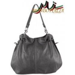 51233207d Made In Italy kožená kabelka 842 tmavo sivá od 89,00 € - Heureka.sk