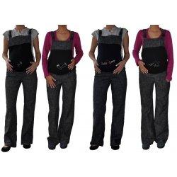 953ccb7140 tehotenské nohavice na traky s motívom čierny denim alternatívy ...