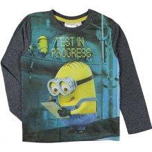 E plus M Chlapekcé tričko Mimoni - sivé