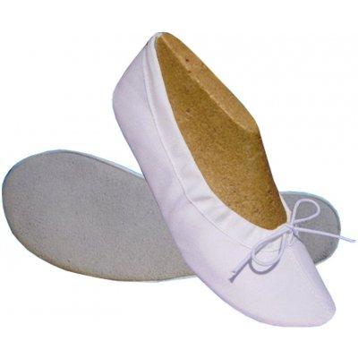 Tanečné cvičky Denisa TK biela - textilný zvršok is