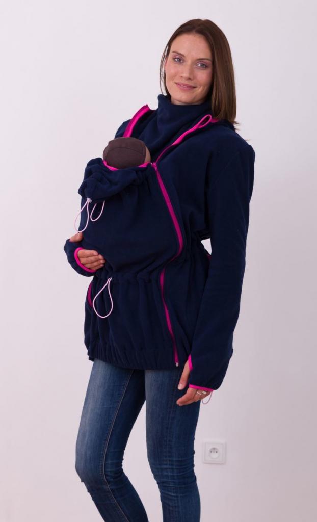 7970a4cd66d8 Jožánek mikina na nosenie detí s kapucňou Nina Tmavomodrá ...