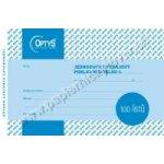 Optys 1036 Výdajový doklad A6, jednoduchý, 100 listů