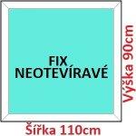 Soft Plastové okno 110x90 cm, FIX neotváravé