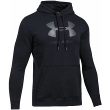 Under Armour Rival Fitted Graphic Hoodie čierna mikina s kapucňou 3b454a8fdb0