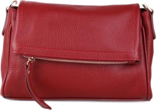 talianske kožené luxusné kabelky cez plece červené Osmana od 67 88f1c58a72f