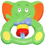 Baby Mix hrkálka sloník červený