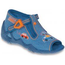a5e9421d6bd4 Befado Chlapčenské papučky s autíčkami Snake modré