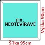 Soft Plastové okno 95x90 cm, FIX neotváravé
