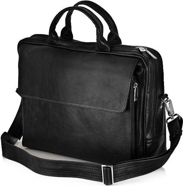 3ea2a1d12c Taška a aktovka Solier kožená pánska taška SL30 Black - Zoznamtovaru.sk