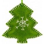 58f91ae2e Ozdoba na vianočný stromček z filcu - stromček zelený