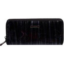 Lorenti veľká kožená peňaženka lakovaná čierna 177006 NIC CKBF black 1b8223ec932