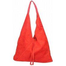 0f13c89c2e6b Made In Italy dámska kožená kabelka 9013 červená