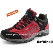 CXS SPORT softshellová obuv, červeno - čierna
