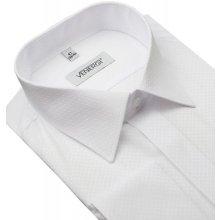 a2c7dba41080 Biela košeľa na manžetové gombíky VENERGi (klasický s.) 41 košeľa