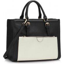 elegantná kabelka Miva čierno-biela 324d1fc951d