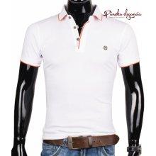 Biele pánske POLO tričko ETTE 6-8023