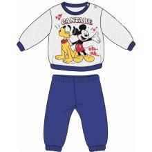 Disney by Arnetta chlapčenské pyžamo Mickey šedo modré