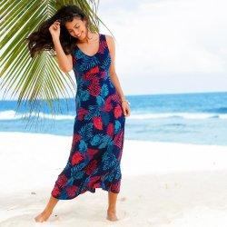 Blancheporte Dlhé šaty s potlačou indigo tyrkysová alternatívy ... 7d863dee0a1