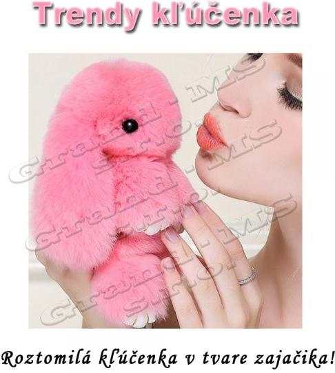 Prívesok na kľúče Prívesok na kľúče Trendy Zajac Pom Pom ružový ... 830bf673616