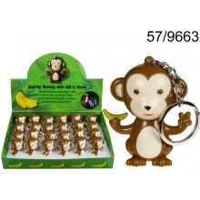 Prívesok na kľúče s baterkou a zvukom opica 9e15cc7d8d7
