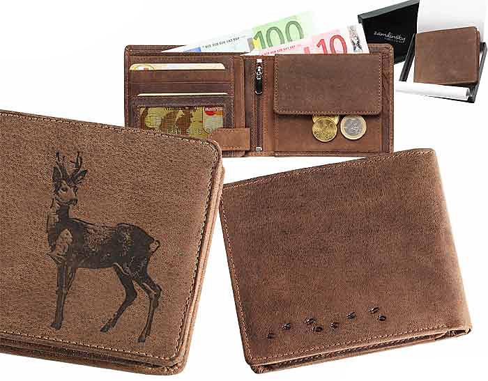Kožená peňaženka Srnec od 24 3a464dec5c9