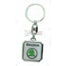 Prívesok na kľúče obyčajná Škoda nové logo zelené 18c03dd3bdf