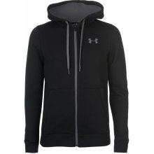 Under Armour Rival Fitted Full Zip Hoody Mens Black e44e08878b5