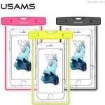 "Púzdro USAMS Luminous Vodotěsné Smartphone 6"" ružové"