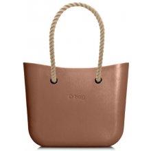 O bag bronzové kabelka MINI Bronzo s dlhými povrazmi natural b59dd97a93c