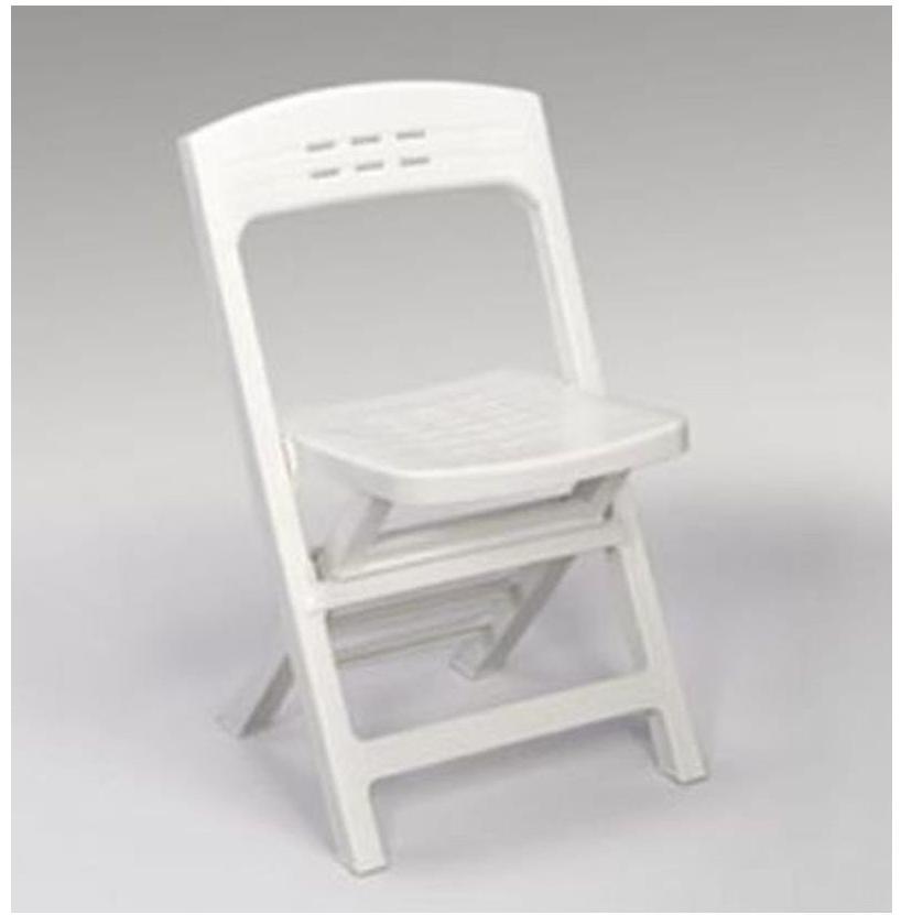 35bba67295d8 Záhradná stolička a kreslo Skladacie kreslo Derby biele ...