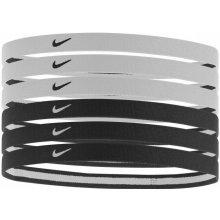 Nike Swoosh Sport Headbands 6pk Black/White