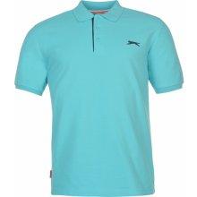 Slazenger Plain Polo Shirt Mens Bright Blue