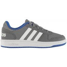 b0739e17f06 Adidas HOOPS dětské tenisky ltgrey wht blue