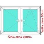 Soft Dvojkrídlové plastové okno 200x90 cm, O+OS